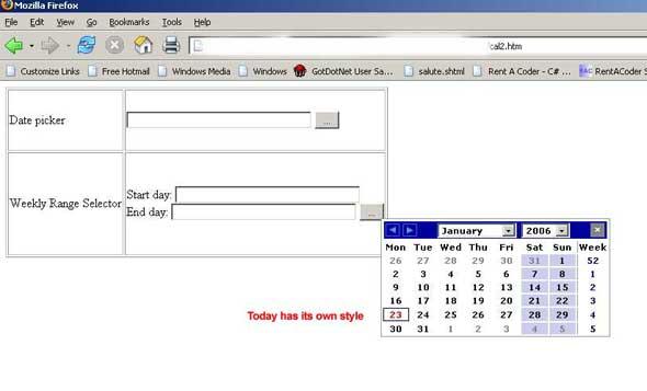 Weekly Calendar Using Javascript : A javascript weekly calendar codeproject