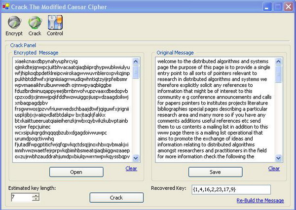 Write a program to implement caesar cipher program