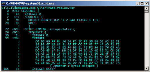 C# Generated RSA Private Key