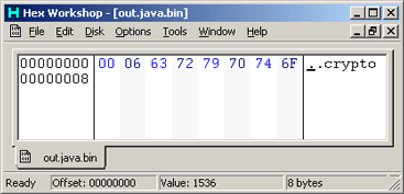 Java DataOutputStream Output