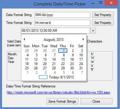Complete Date Time Picker Control Codeproject