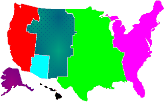 Colored Time Zones