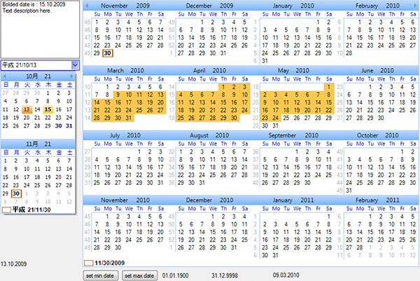 a picture of a calender