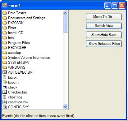 File Browser in action