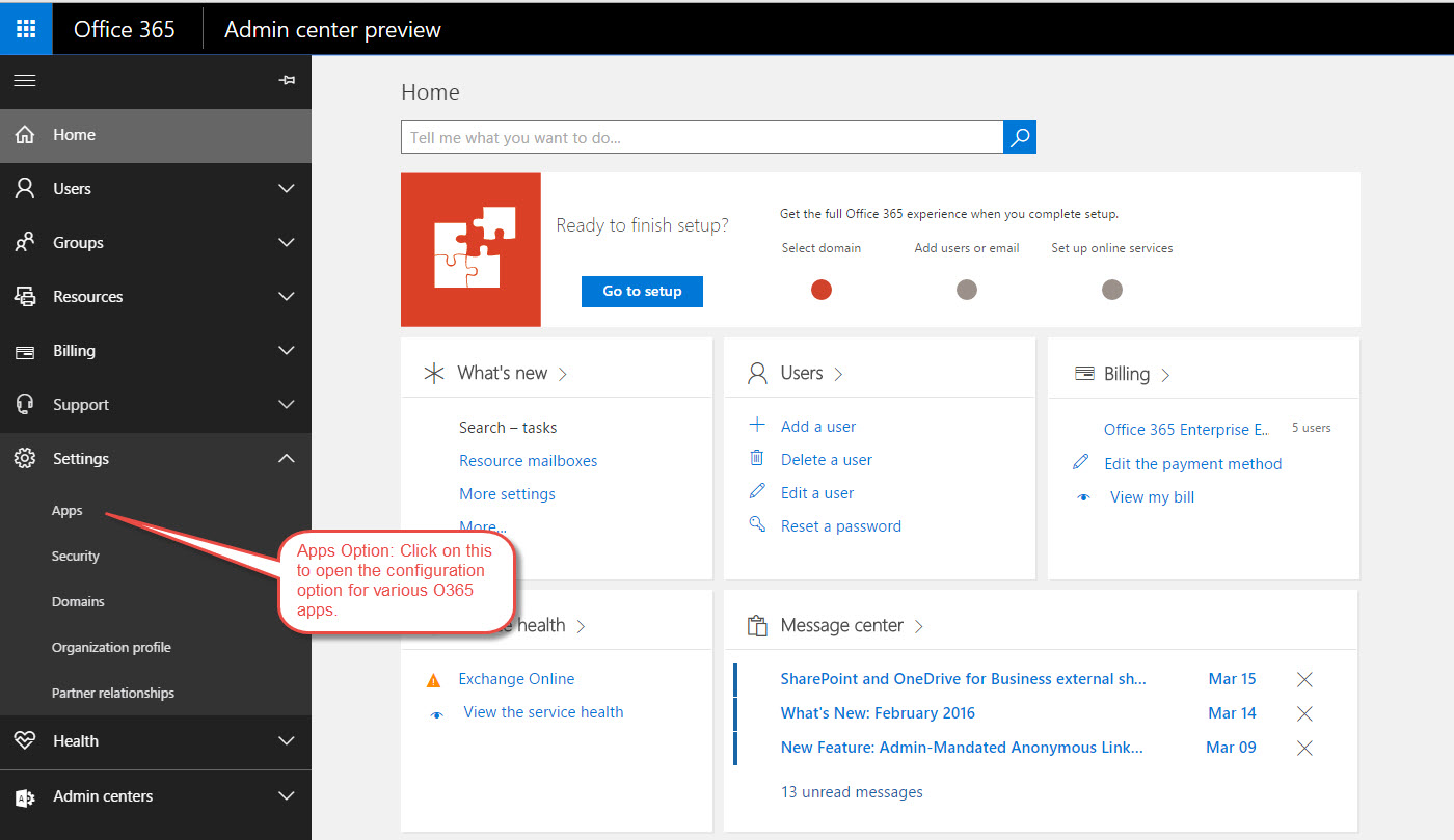 Office 365: Activate RMS For Office 365 Subscription (New O365 Admin