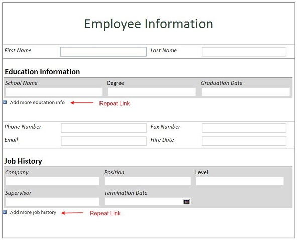 Dynamically create populate and submit an infopath form for Free infopath templates