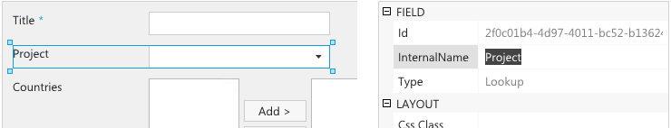 Internal name of SharePoint field
