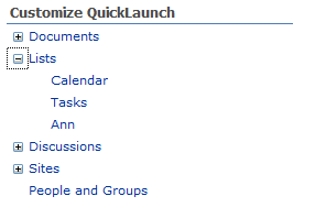 CustomizeQuickLaunch