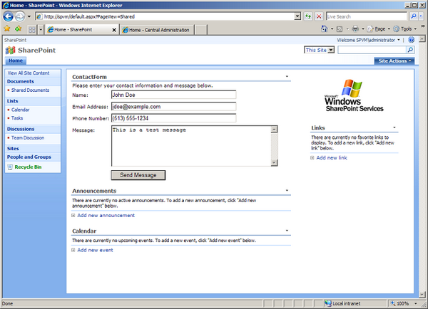 Testing the Web Part in SharePoint