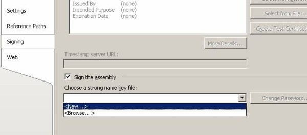 Choosing a new strong name key file