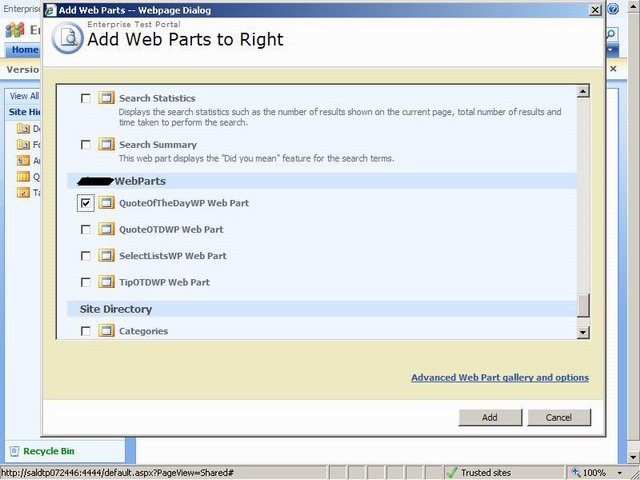 Fig4: How to Add Web Part to Basic Web Part Page.