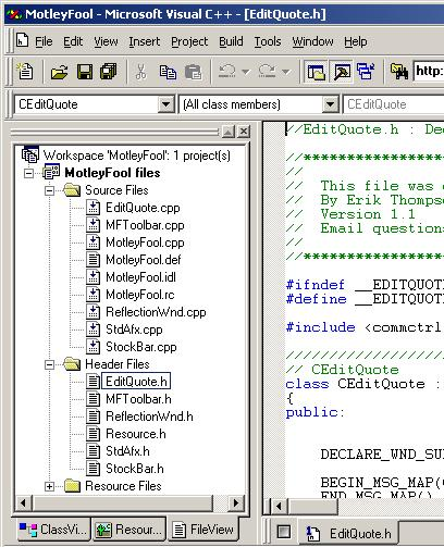 Figure 11. FileView Pane.