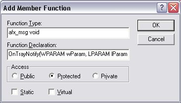 Adding a new protected function