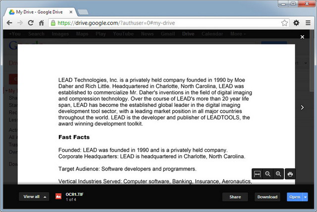Using LEADTOOLS OCR to Enhance Google Drive Search | lingkb