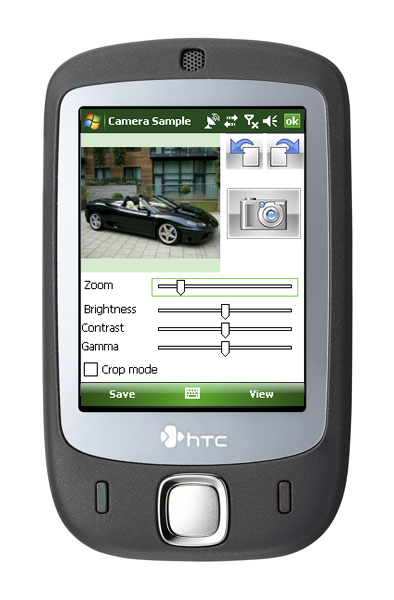 Main screen of the application