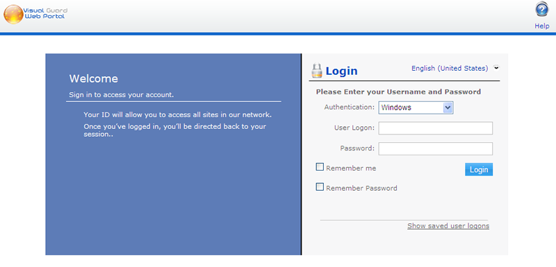 Web SSO - Login Form