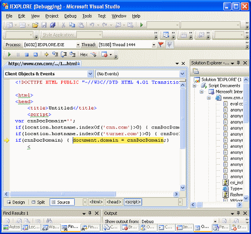 Visual Studio Script Debugger
