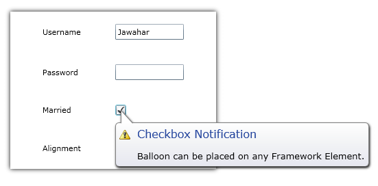 Notification Control inSilverlight.