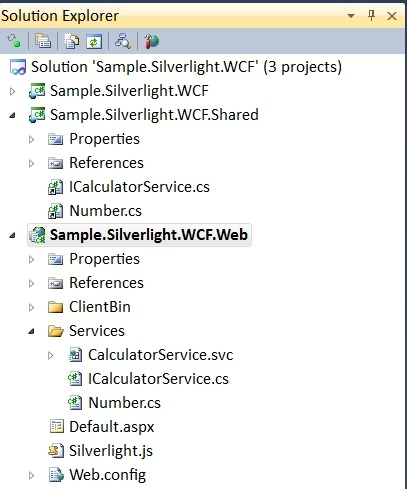 Picture of linked files in Solution Explorer
