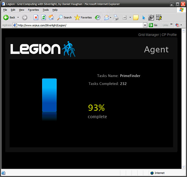 Legion Agent pictured in browser.