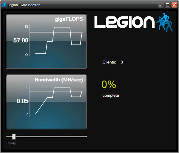 Legion Grid Manager pictured in browser.