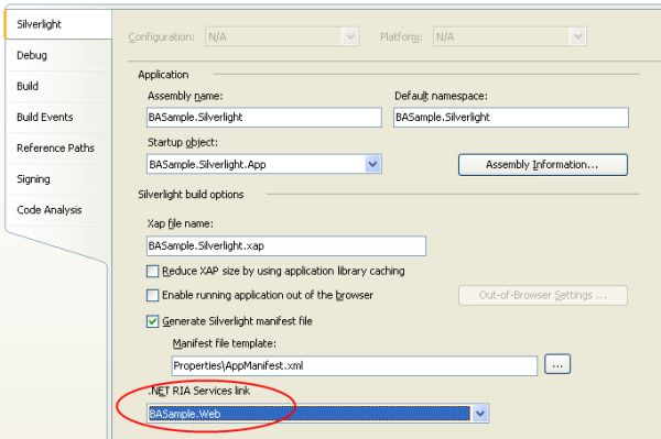 How to update ria services link after renaming web application.