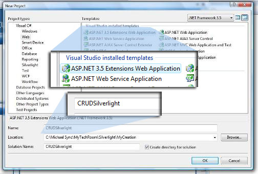 VS 2008 - New ASP.NET 3.5 Extensions Web Application