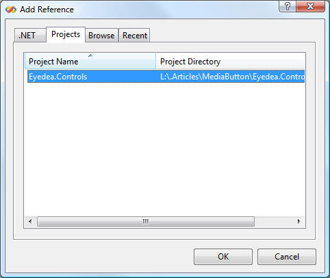 Adding reference to Test Project