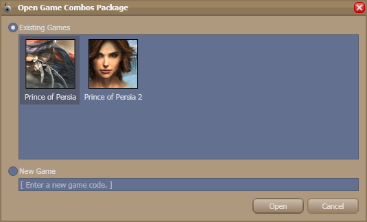 Skinned open package window
