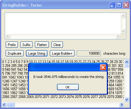 The StringBuilderPlus tester application.