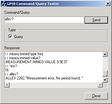 Command/Query GPIB Demo