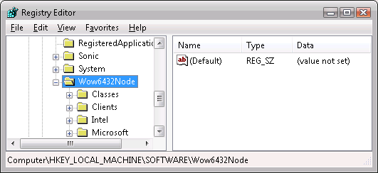 Registry with Wow6432Node