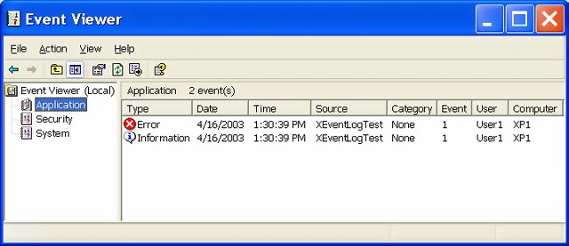 XEventLog demo screenshot