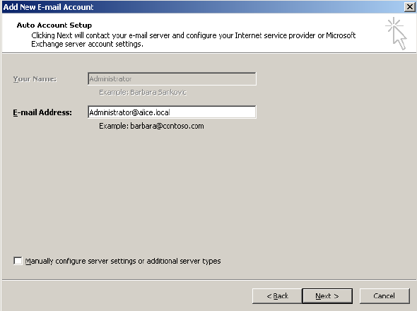 Configure default account in Outlook