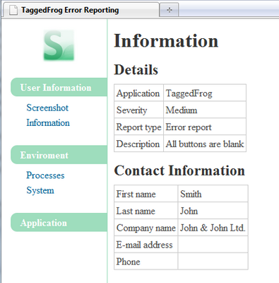 sedge an automated error reporting tool codeproject