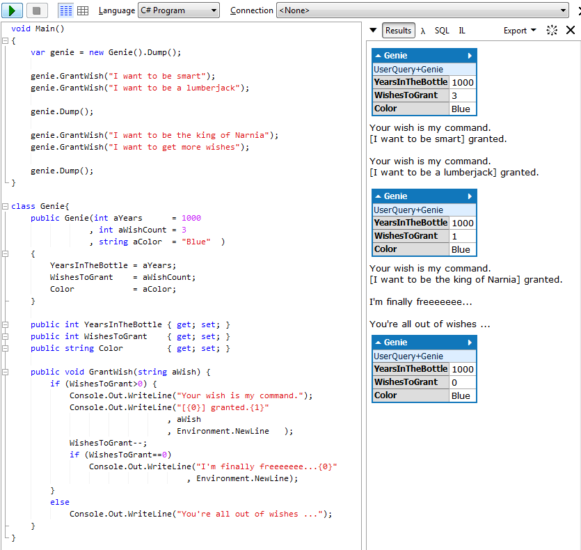 c# manually create json string