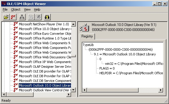 OleView.exe Screen Shots - Type Libraries