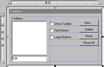 Toolbar Dialog Resource