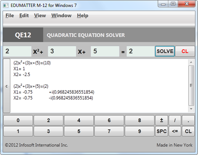 Online Equation Solver Solve linear quadratic and