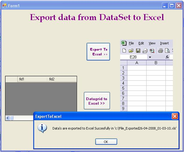 Export Excel Using Codeproject