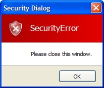 Sample security VDialog