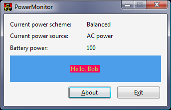 Vista Goodies in C++: Monitoring the Computer&#39;s Power Status ...
