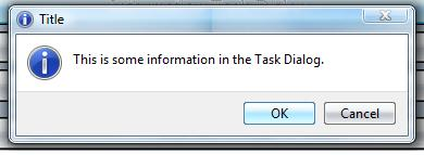 Simple Information Dialog