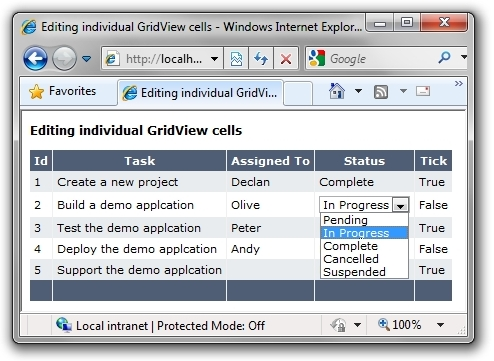 Edit individual gridview cells in asp net codeproject for Grid view templates in asp net