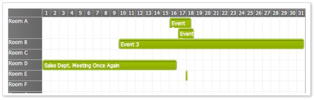 Scheduler Green CSS Theme