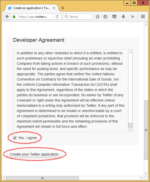 how to create api key in twitter