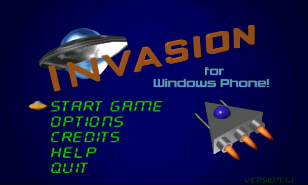 Get Invasion for Windows Phone!