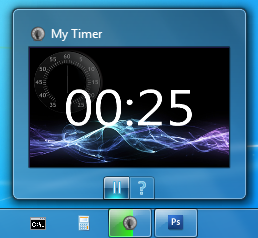 TaskbarTimer screenshot