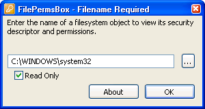 Filepermsbox. A program to view the security descriptor of a file