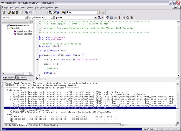 C++ Memory Leak Finder